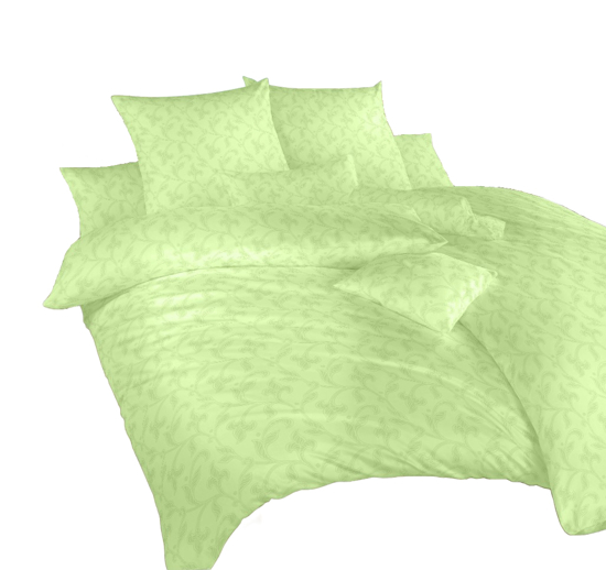 Obrázek z Povlečení damašek Rokoko zelené 140x220, 70x90 cm