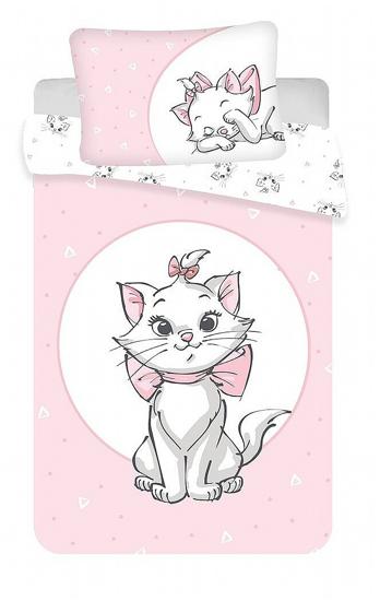 """Obrázek z Disney povlečení do postýlky Marie Cat """"Light pink"""" baby 100x135, 40x60 cm"""