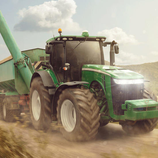 "Obrázek z Povlak na polštářek Traktor ""Green"" 40x40 cm"