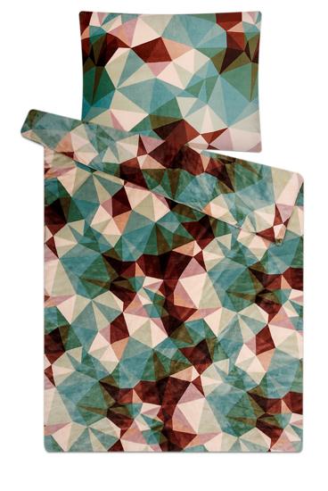 Obrázek z Povlečení mikroflanel Deep forest green 140x200, 70x90 cm