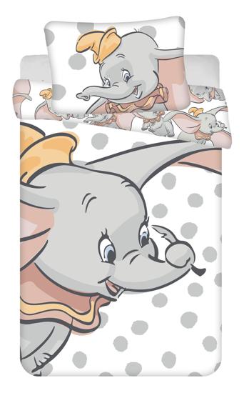"""Obrázek z Disney povlečení do postýlky Dumbo """"Dots"""" baby 100x135, 40x60 cm"""