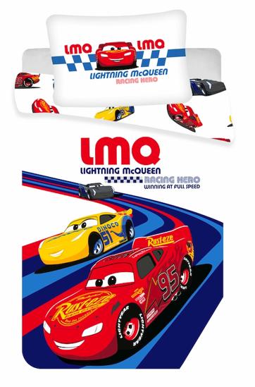 "Obrázek z Disney povlečení do postýlky Cars ""Racing hero"" baby 100x135, 40x60 cm"