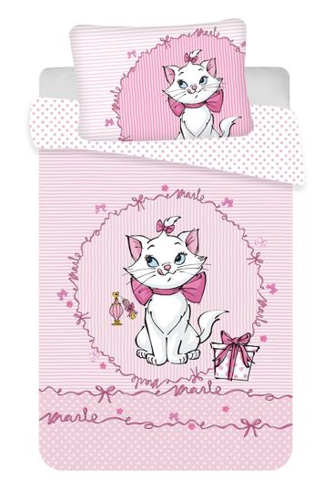 """Obrázek z Disney povlečení do postýlky Marie cat """"Pink"""" baby 100x135, 40x60 cm"""