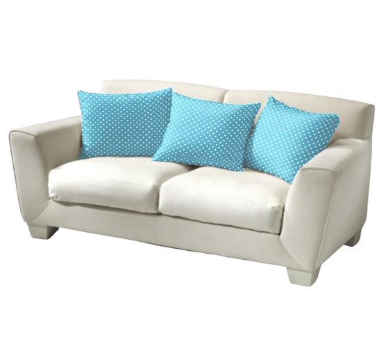 Obrázek z Povlečení bavlna Puntík bílý na světle modrém 40x40 cm